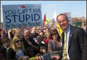 Todd Akin with Unfortunate Sign