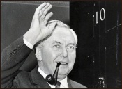 Harold Wilson at 10 Downing Street
