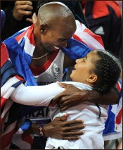 Mo Farah and his Daughter