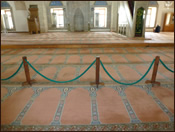 The floor of the Antalya Mosque