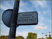 Avenue Franklin D. Roosevelt Sign