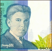 500 Belgian Franc Note Detail